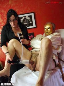 Mistress Julie Simone Penis Pump Torture