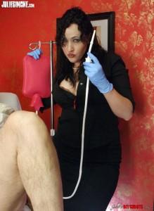 Mistress Julie Simone Enema Play